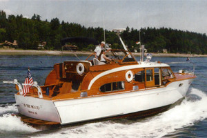 In The Mood, a 1953 Chris Craft Double Cabin Fly Bridge Cruiser