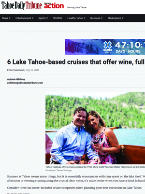6 Lake Tahoe-based cruises that offer wine, full bars