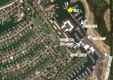 Tahoe Yacht Cruises Aerial Map